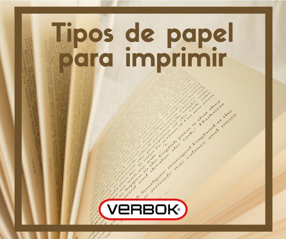los distintos tipos de papel para imprimir